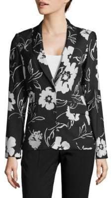 Calvin Klein Floral Long-Sleeve Blazer