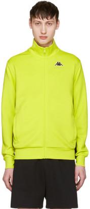 Gosha Rubchinskiy Green Kappa Edition Logo Sleeve Track Jacket $165 thestylecure.com