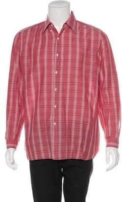 Isaia Linen-Blend Shirt