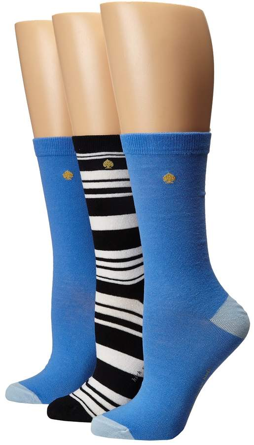 Kate Spade New York - 3-Pack Trouser Socks Women's Crew Cut Socks Shoes