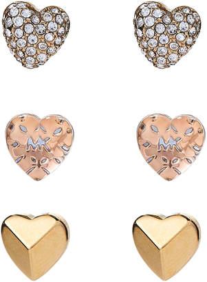 Michael Kors 3-Piece Gold-Tone Stud Earring Set