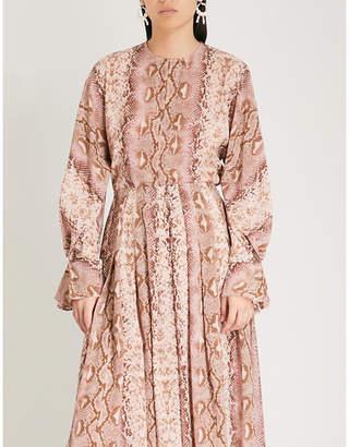 Emilia Wickstead Dalia python-print silk shirt