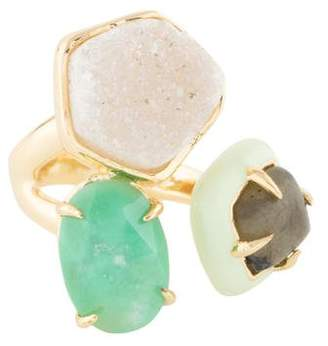 Alexis Bittar Druzy Stone Cluster Cocktail Ring