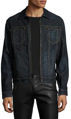 Zip Front Denim Jacket $398 thestylecure.com