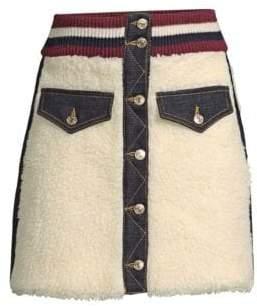 Tommy Hilfiger Collection Tommy Hilfiger Collection Women's Winter Denim Mini Skirt - Egret - Size 6