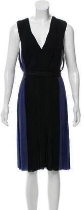 J. Mendel Colorblock Midi Dress