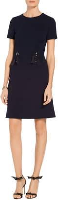St. John Circular Milano Short Sleeve Dress