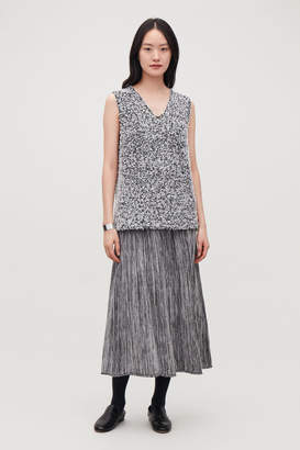 Cos SLEEVELESS REVERSE-KNIT TOP