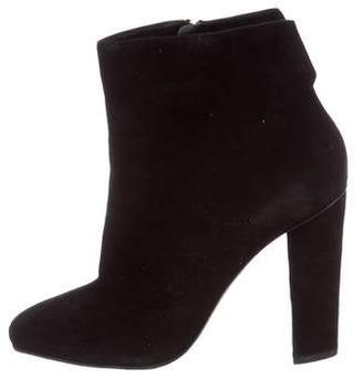 Giuseppe Zanotti Suede Round-Toe Ankle Boots