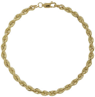 JCPenney FINE JEWELRY 10K Yellow Gold 8 Hollow Rope Chain Bracelet
