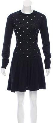 Chanel Faux Pearl Embellished Mohair Dress