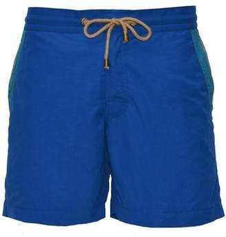 Thorsun Swimwear Thorsun Swimtrunks in Blue with Pocket Stripe Detail