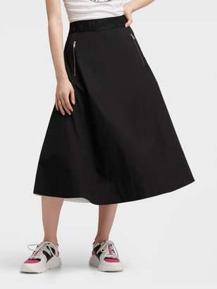 DKNY Maxi Skirt With Zip Pockets