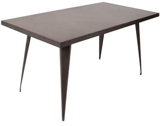 Lumisource Austin Industrial Dining Table in Antique