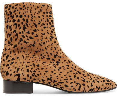 rag & bone - Aslen Animal-print Suede Ankle Boots - Leopard print