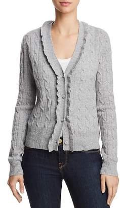 Aqua Ruffled Cable-Knit Cashmere Cardigan - 100% Exclusive