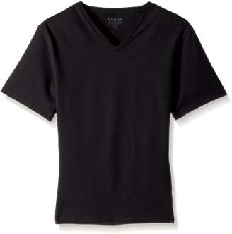 Spanx Cotton Compression V-Neck T-Shirt, L