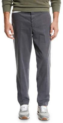 Brunello Cucinelli Men's Cotton Flat-Front Pants