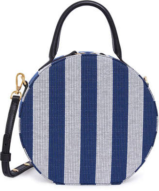 Mansur Gavriel Circle Striped Canvas Crossbody Bag