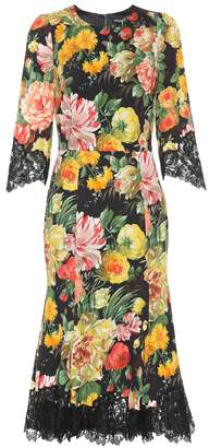 Dolce & Gabbana Lace-trimmed floral dress