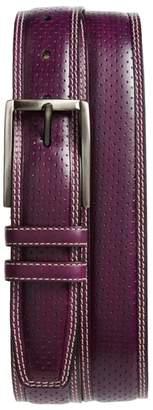 Mezlan Alfa Perforated Leather Belt