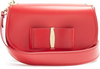 SALVATORE FERRAGAMO Anna Vara leather shoulder bag $1,329 thestylecure.com