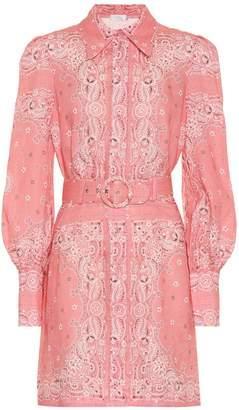 Zimmermann Heathers printed linen minidress