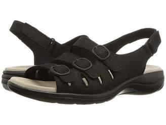 445902a7776 Clarks Black Strappy Women s Sandals - ShopStyle