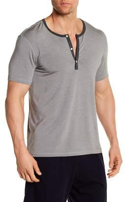 Daniel Buchler Henley Short Sleeve Tee $95 thestylecure.com