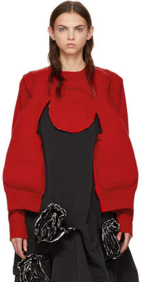 Comme des Garcons Red Padded Sweater