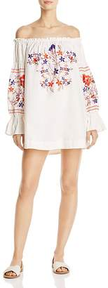 Free People Fleur Du Jour Off-the-Shoulder Dress $148 thestylecure.com