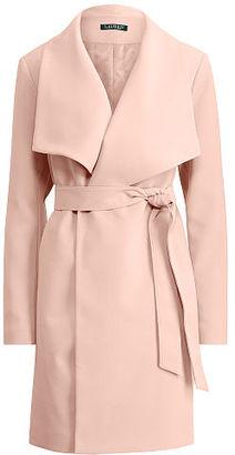 Ralph Lauren Crepe Open-Front Coat $190 thestylecure.com