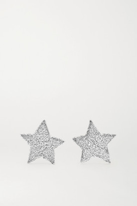 White Gold Earrings Shopstyle