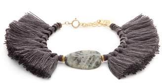 ELISE TSIKIS Ipsos beaded tassel gold-plated bracelet