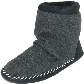totes Women's Microsuede & Heather Knit Marisol Boot Slipper, Large (8.5-9)