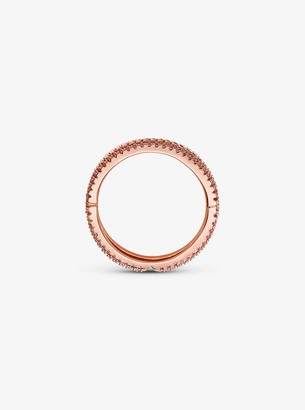 Michael Kors 14K Rose Gold-Plated Sterling Silver Pave Nesting Ring