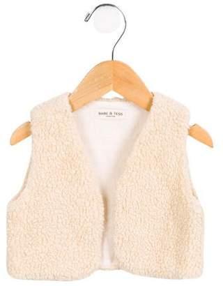 Babe & Tess Girls' Faux Shearling Vest