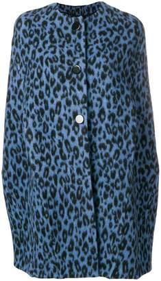 Ermanno Scervino leopard print cape