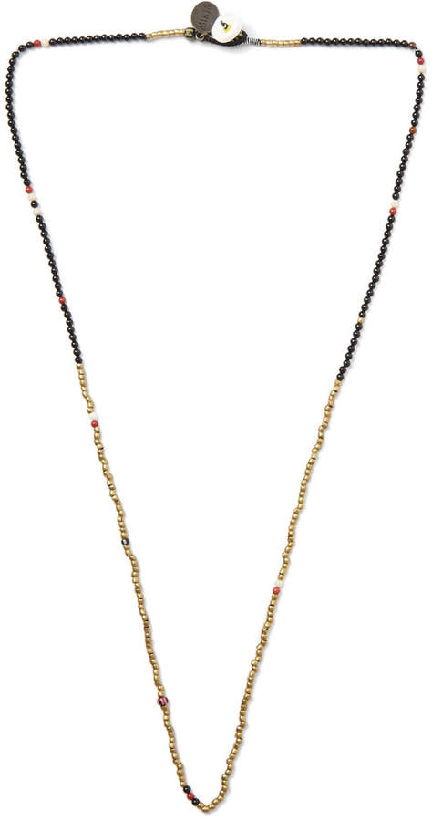 Brass and Onyx Necklace