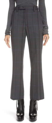 Acne Studios Patsyne Plaid Wool Blend Suit Trousers