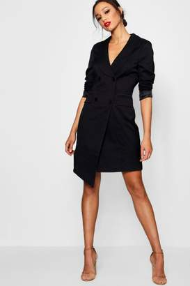 boohoo Tall Wrap Asymmetric Blazer Dress