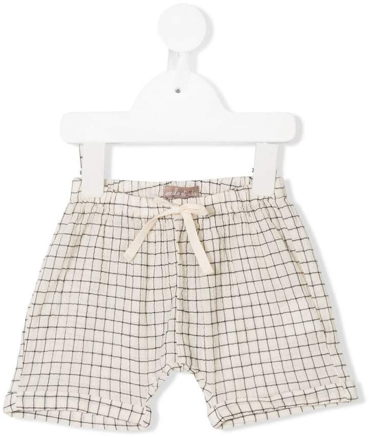 grid patterned shorts
