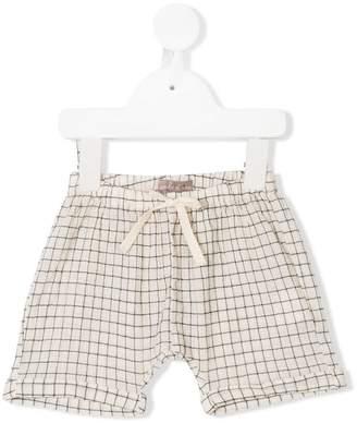 Emile et Ida grid patterned shorts
