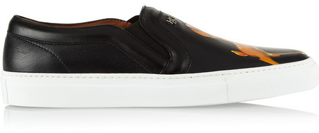 Givenchy Skate shoes in black leather with Bambi print