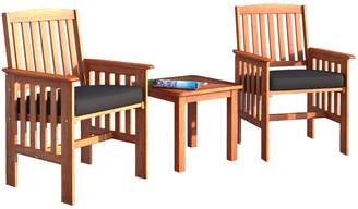 Corliving Miramar 3-Piece Outdoor Chair and Side Table Set