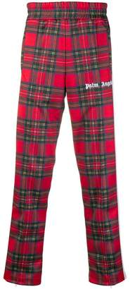 Palm Angels tartan straight-leg trousers