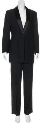 Calvin Klein Collection Wool Shawl Lapel Pantsuit