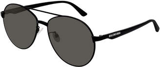 Balenciaga Men's Aviator Metal Unisex Sunglasses