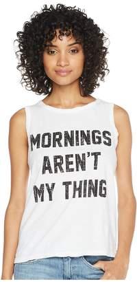 Original Retro Brand The Mornings Aren't My Thing Cotton Slub Tank Women's Clothing