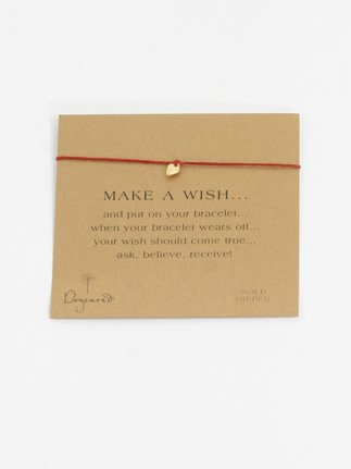 Dogeared Make A Wish Bracelet,